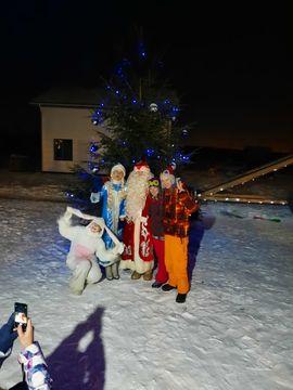 Встреча Рождества в 3 и 4 очереди нашего поселка